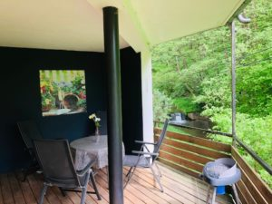 Balkon achterzijde vakantie Sauerland